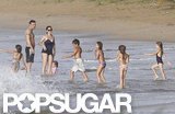Jennifer Garner, Ben Affleck, Seraphina Affleck, and Violet Affleck all went swimming together in Puerto Rico.