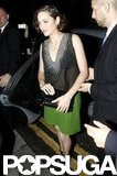 Marion Cotillard arrived at the Dark Knight Rises London afterparty.