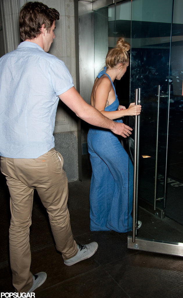 Miley Cyrus and Liam Hemsworth went out to dinner in Philadelphia.