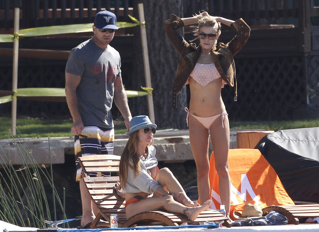 LeAnn Rimes hung out with husband Eddie Cibrian at a lake house near LA in July 2012.