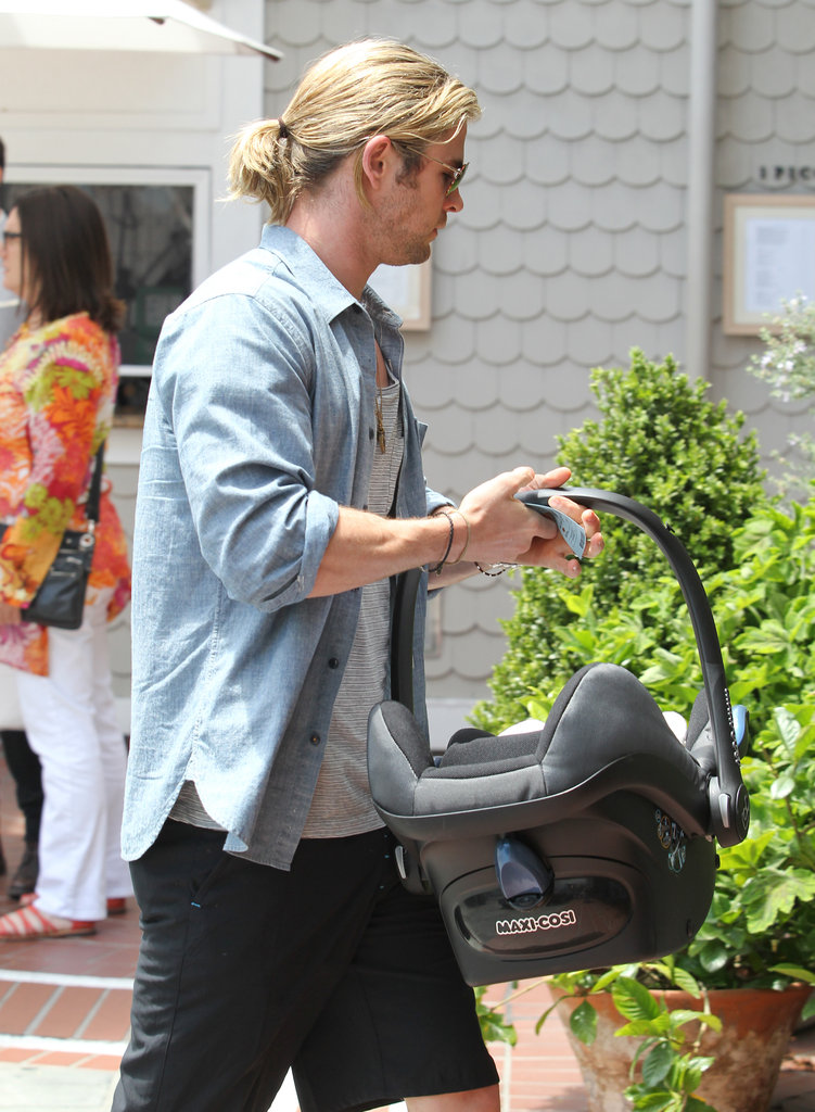 Chris Hemsworth was out on his wife's birthday.