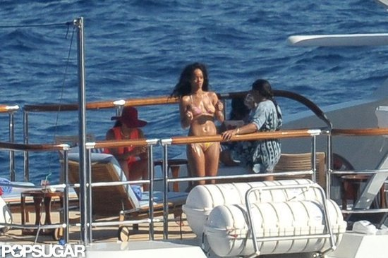 Rihanna looked out on the water.