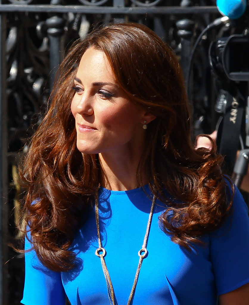 Kate Middleton showed off her hairstyle.