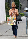 Lauren Conrad rocked skinny jeans and a pair of flats in West Hollywood.
