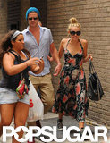 Liam Hemsworth and Miley Cyrus were approached by fans as they arrived at their hotel in Philadelphia, PA.