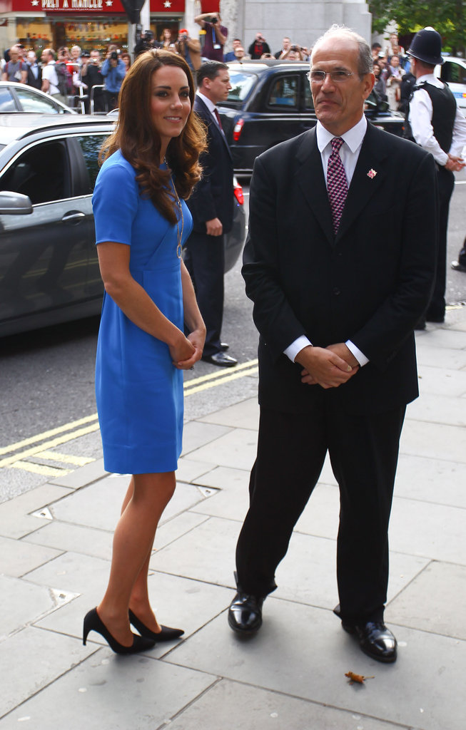 Kate Middleton arrived in Trafalgar Square.