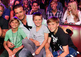 David Beckham and his boys, Romeo Beckham, Cruz Beckham, and Brooklyn Beckham, sat in the audience of the 2011 Teen Choice Awards.
