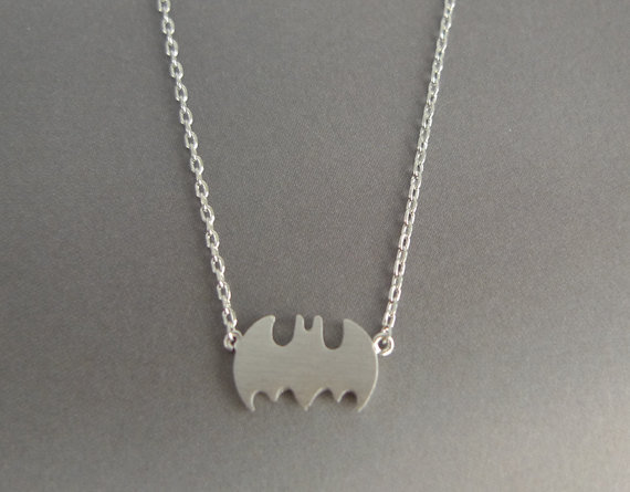 Silver Batman Necklace ($14)