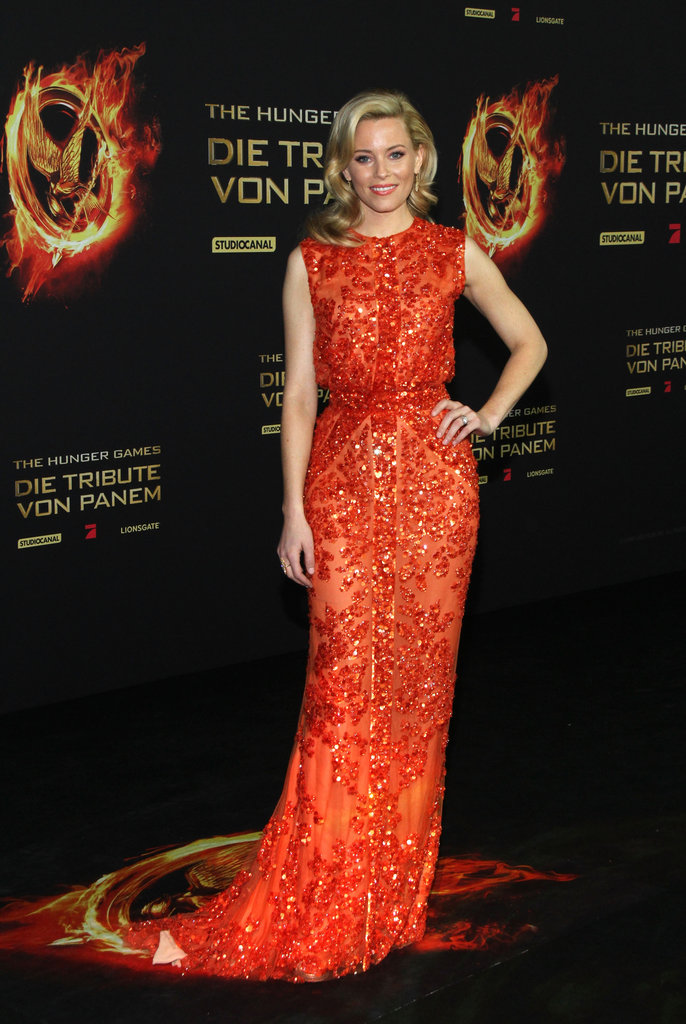 Elizabeth solidified her status as a fiery hot style-setter in this super-embellished Elie Saab gown at the Berlin premiere of The Hunger Games.
