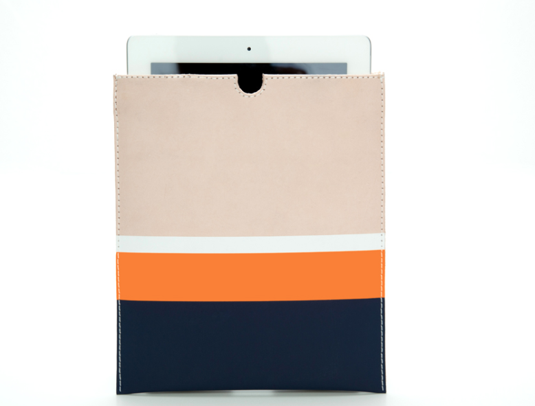 This Clare Vivier for Splendid iPad sleeve features bold colorblocking and a sleek silhouette.  Clare Vivier For Splendid iPad Case ($128)