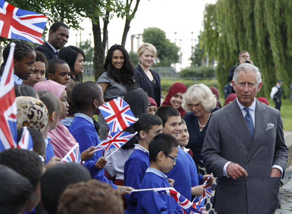 Prince Charles and his wife, Camilla, visited the velodrome in the Olympic Park in June.