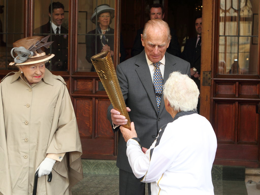 Prince Philip held onto it.