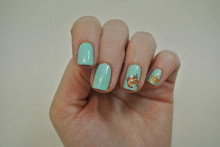 DIY Under The Sea Themed Nail Art Using Water Decals
