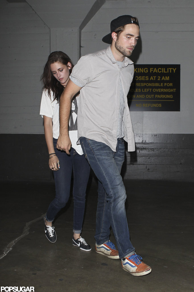 Robert Pattinson and Kristen Stewart left The Hotel Cafe in Hollywood, CA.