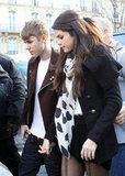 Justin Bieber and Selena Gomez had a romantic date at Paris's L'Avenue restaurant in November 2011.