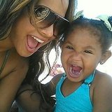 Christina Milian took a sweet photo of her and her daughter, Violet, on the beach in Miami. Source: Instagram user christinamilian