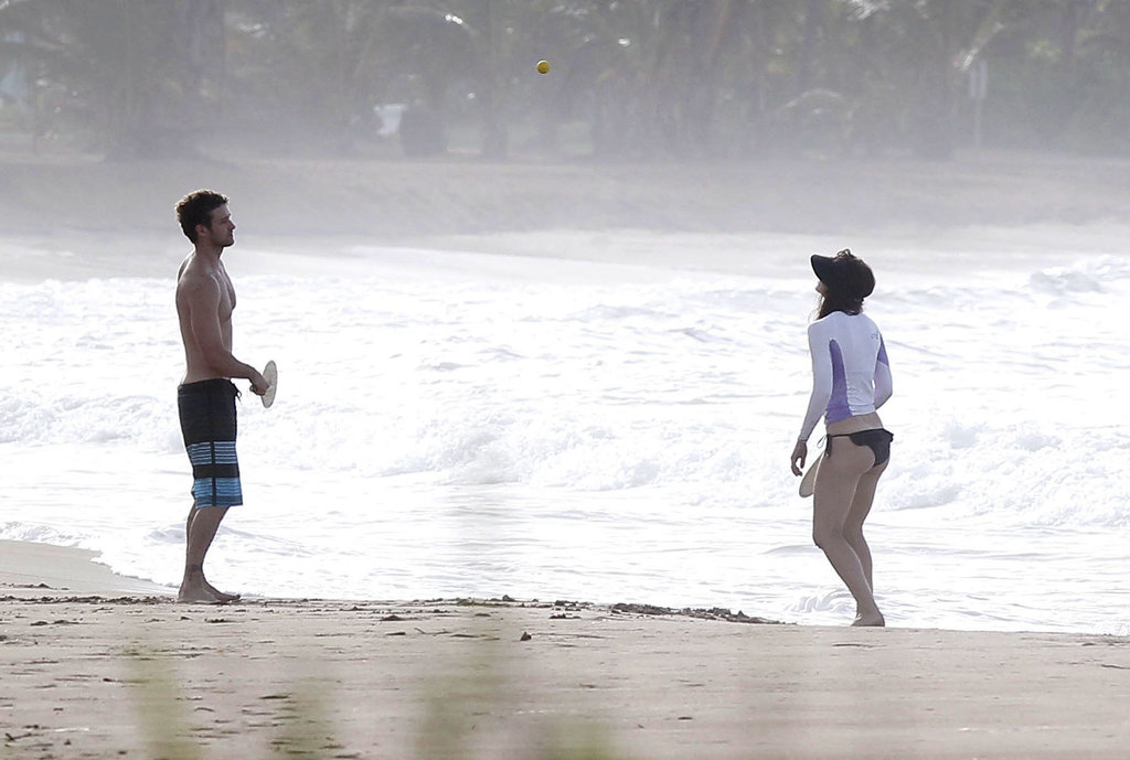Justin Timberlake and Jessica Biel spent the day together in Puerto Rico.