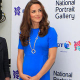 Kate Middleton Pictures in Blue Stella McCartney at National Portrait Gallery