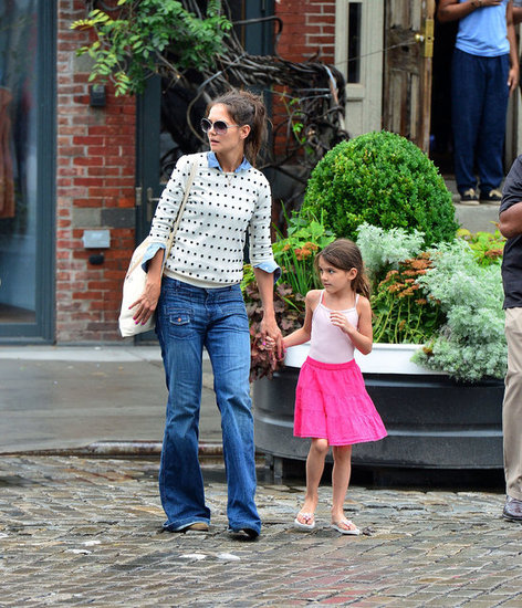 Katie Holmes and Suri Hit Up NYC's Brunch Hotspots