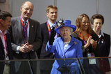 The queen and Lord Sebastian Coe, Chairman of the London Organising Committee of the Olympic Games, visited the Aquatics Centre on day one.