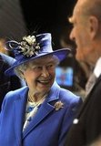 Queen Elizabeth and Prince Philip visited the Aquatics Centre.