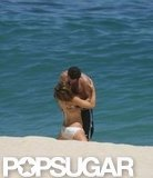 "In May 2004, newlyweds Kate Beckinsale and Len Wiseman kissed in Cabo. She wore a ""Mrs. Wiseman"" bikini!"