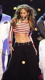 J Lo's midriff was on display at the January 2011 American Music Awards in LA.