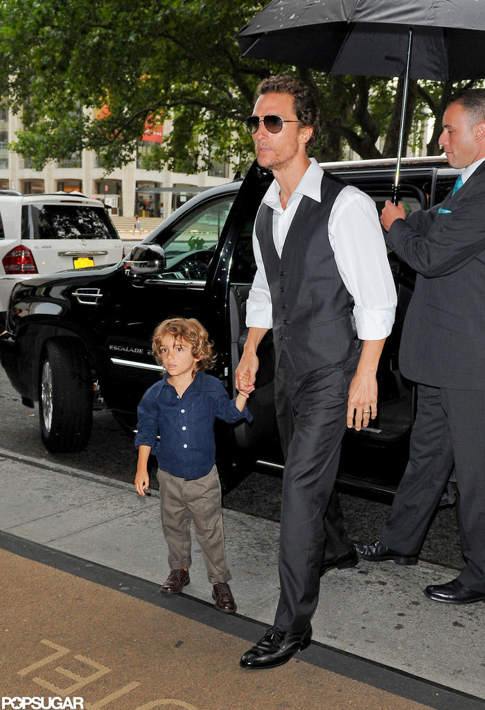 Matthew McConaughey and Little Levi Make a Dapper Duo in NYC