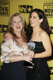 Meryl Streep and Sandra posed in the press room at the 15th annual Critics' Choice Movie Awards in January 2010.