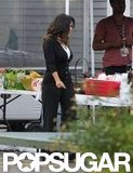 Salma Hayek snacked on set.