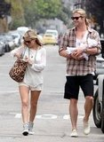Chris Hemsworth Carries Baby India on a Weekend Walk With Elsa