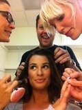 """Lea Michele had a """"village"""" helping her get ready.  Source: Twitter user msleamichele"""
