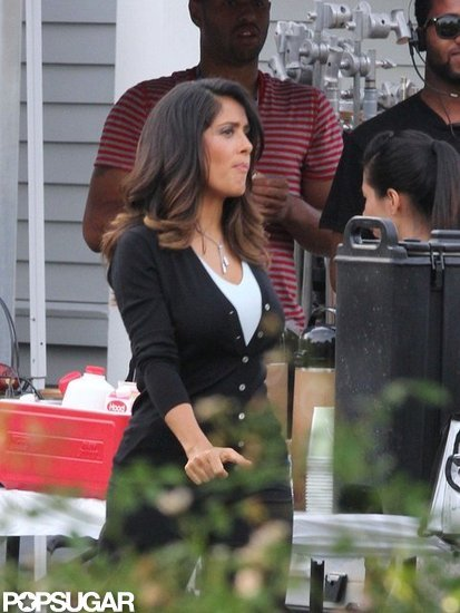 Salma Hayek visited craft services.