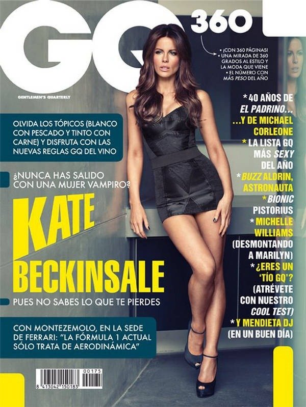 Kate Beckinsale struck a pose for GQ Spain's March issue.
