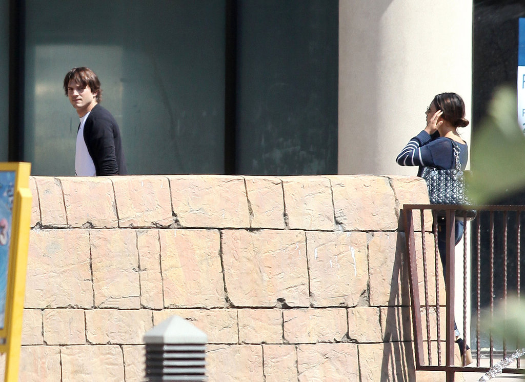 Mila Kunis and Ashton Kutcher headed to see The Dark Knight Rises in LA.