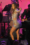 Jennifer Lopez strutted her stuff at a charity event in LA in October 2010.