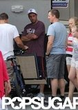 Adam Sandler on the set of Grown Ups 2.