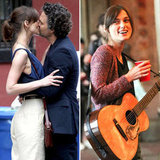 Keira Knightley Shares a Kiss and a Song on Set