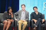 Mindy Kaling sat with Matt Warburton and Chris Messina during The Mindy Project's TCA press tour.