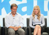 Ben and Kate stars Nat Faxon and Dakota Johnson laughed along with the audience at the show's TCA panel.
