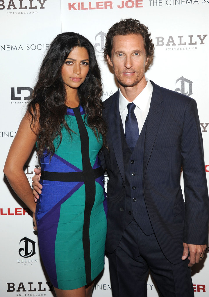 Matthew McConaughey posed with Camila Alves at a screening of Killer Joe.