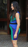 Camila Alves showed off her baby bump in a tight dress in NYC.