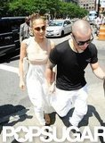 Jennifer Lopez and Casper Smart went to lunch in NYC for her birthday.