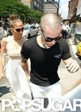 Jennifer Lopez and Casper Smart headed into lunch in NYC.