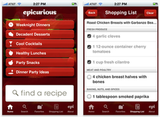 Epicurious Recipes and Shopping List