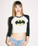 Batman Cropped Baseball T-shirt ($48)