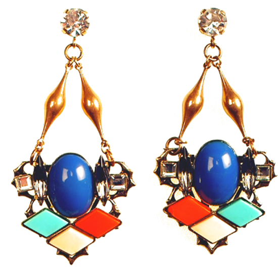 Top Three Statement Making Earrings To Bling Up Your Look: Erickson Beamon, Shourouk and Anton Heunis