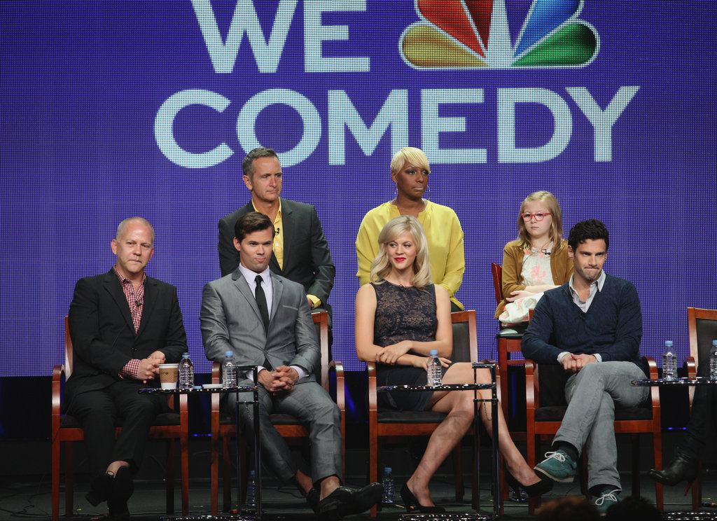 The New Normal's executive producers Ryan Murphy and Dante Di Loreto joined actors Nene Leakes, Bebe Wood, Andrew Rannells, Georgia King and Justin Bartha onstage at the show's 2012 TCA panel.