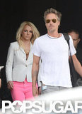 Britney Spears wore pink pants.