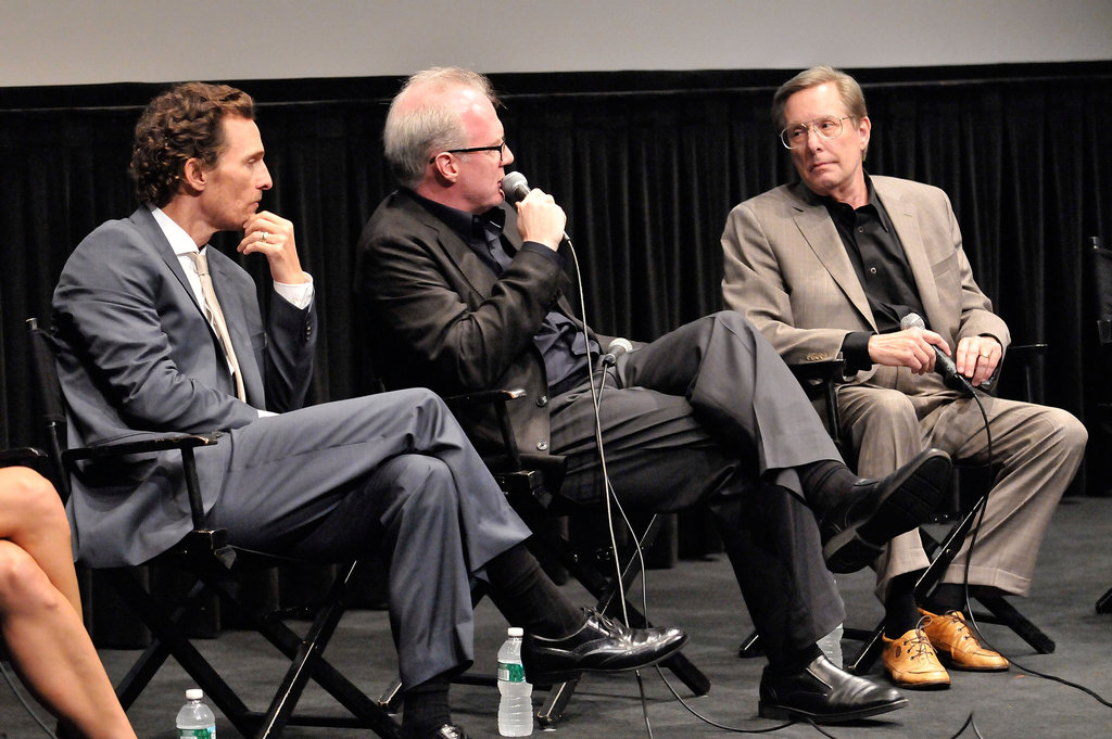 Matthew McConaughey chatted with Tracy Letts, and William Friedkin at the Killer Joe screening in NYC.